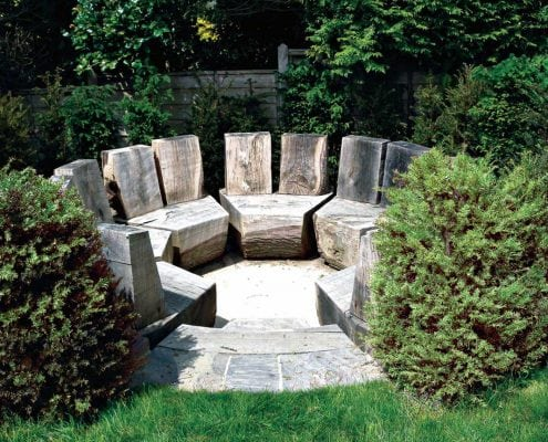 A photo of a seating area designed by Mark Payne