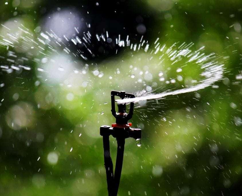 Photo of an impact sprinkler