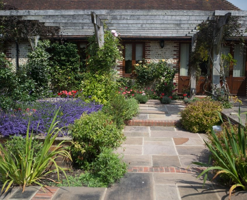 Photo of Fragrant Summer Courtyard Garden in Sussex