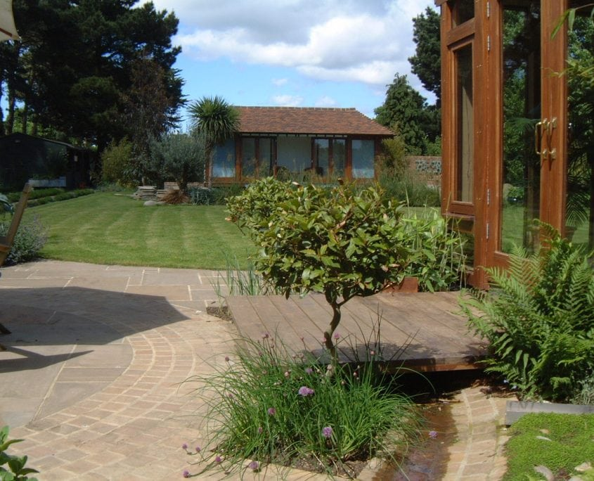 Photo of Large Garden with Pool and Poolhouse in Chichester West Sussex