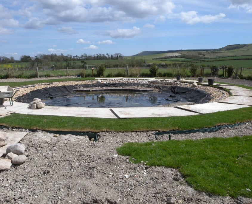 Photo of pond construction beddingham