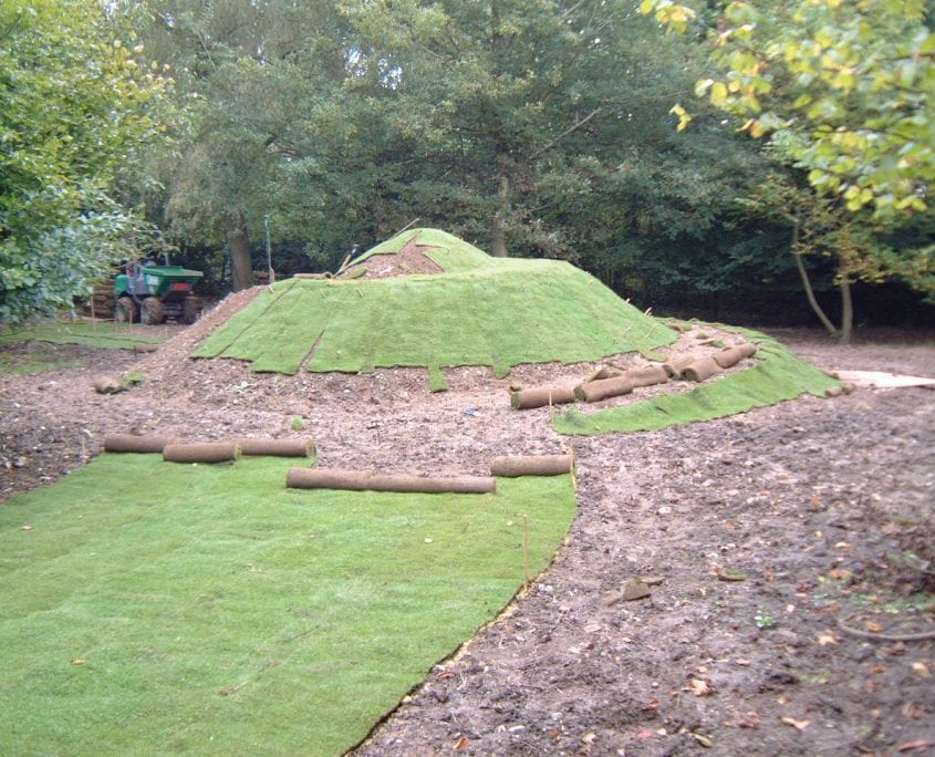 A mound during a garden project management job