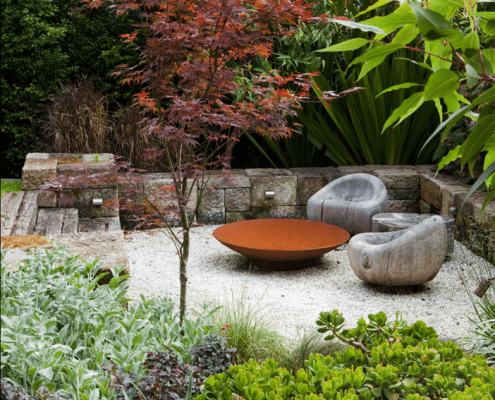 Photo of Corten Steel Fire Bowl by The Pot Company