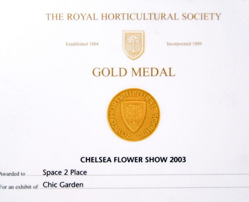 Photo of Chelsea Flower Show Best Chic Garden Gold Medal 2003