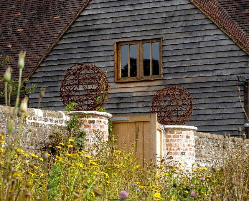 photo of alex moore sculptures country south downs garden design