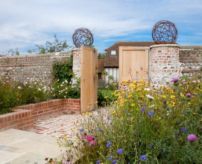 photo of country garden design beddingham sussex