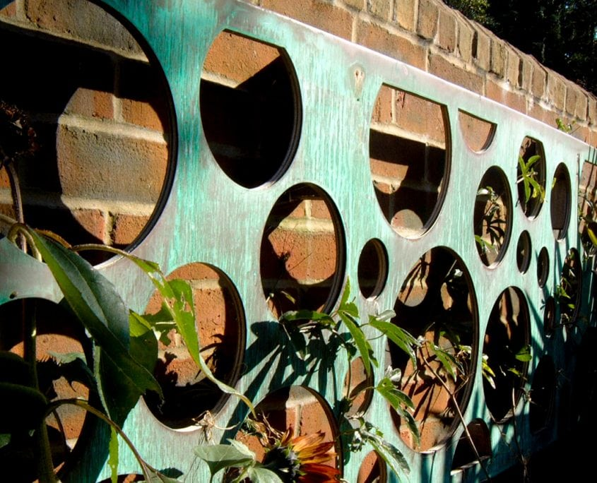 Photo of copper sculpture west sussex garden design