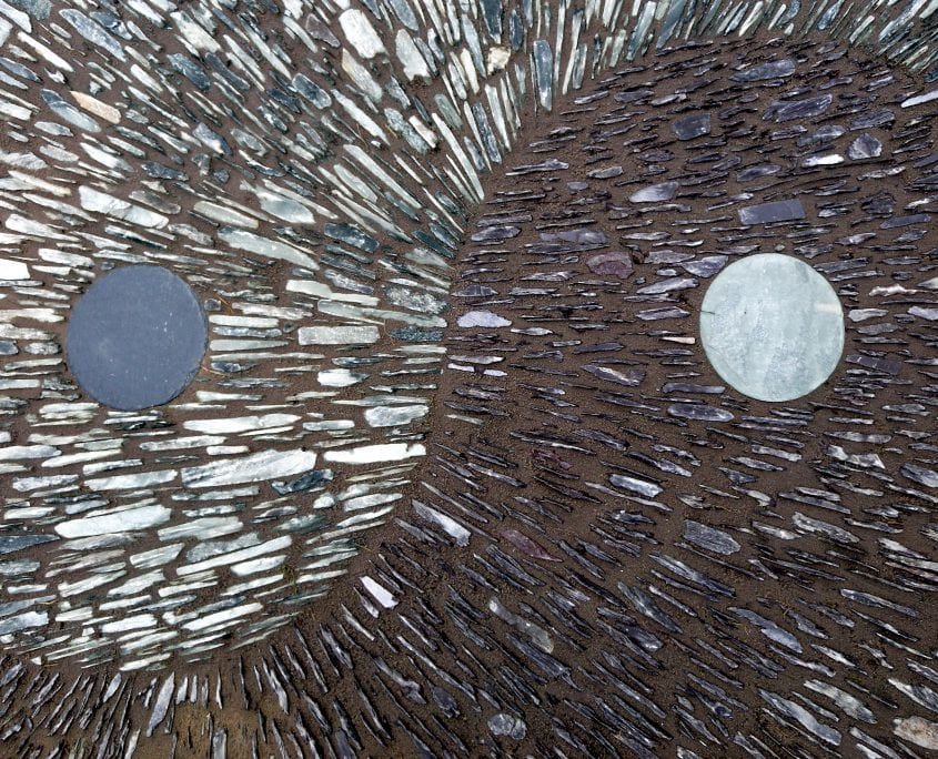 Photo of slate Ying Yang mosaic Sussex